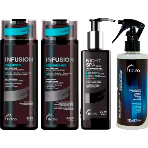 KIt Infusion Truss Shampoo,Condicionador, Night e Uso Obr
