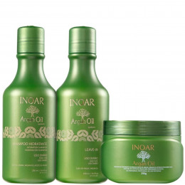 Inoar Argan Oil System Home Care Kit (3 produtos)